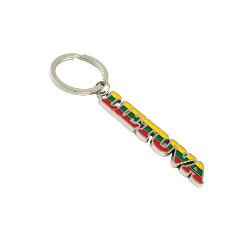Metal key chain Lietuva