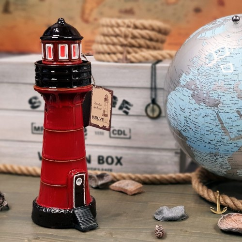 Hand made ceramic lighthouse candle holder Pervalka, Lithuania