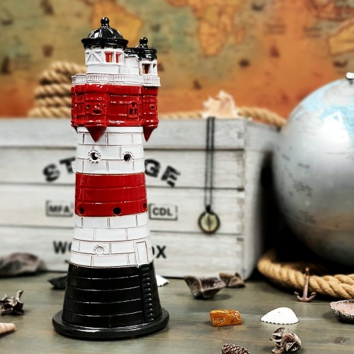 Hand made ceramic lighthouse candle holder – Roter Sand Germany