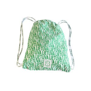 White-Green Backpack LIETUVA- Robin Ruth