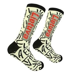 Men's white/black socks Lithuania size:(41-46)