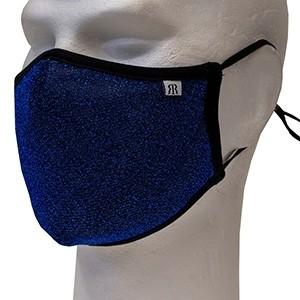Blue glitter face mask Robin Ruth