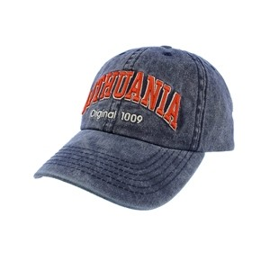 Blue color vintage looks baseball cap Lithuania Original 1009