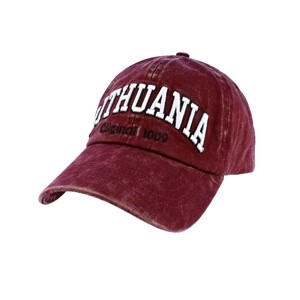 Claret color vintage looks baseball cap Lithuania Original 1009