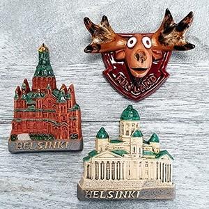 Handmade ceramic magnet set Helsinki Finland