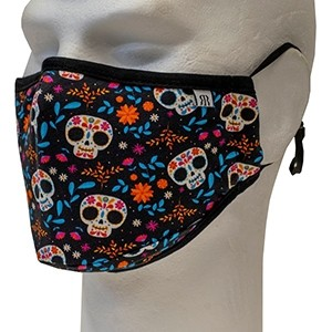 Face cover mask Multicolor skulls