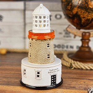 Handmade ceramic lighthouse candle holder The Baily Howth, Ireland
