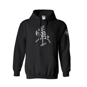 Black hooded sweater Vytis