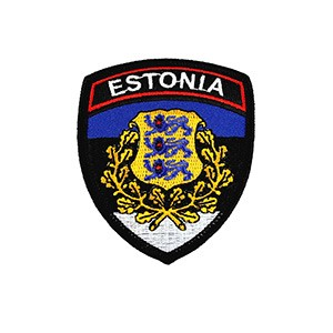 Embroidered patch - Estonia (shield design)