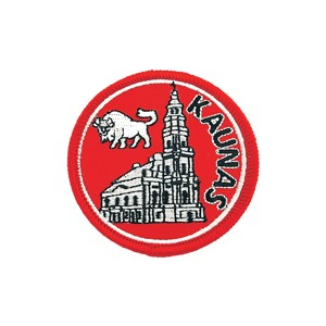 Embroidered patch - Kaunas