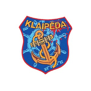 Embroidered patch - Klaipėda