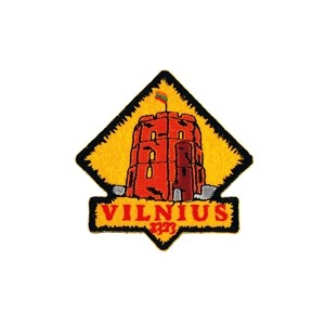 Embroidered patch Vilnius