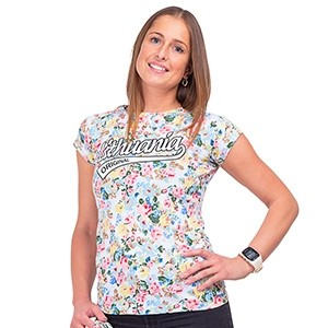 Flowered white ladie's t-shirts Lithuania Original