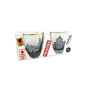 Shot glass set with Riga old town