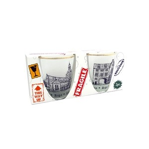 Shot glasses set with Riga old town