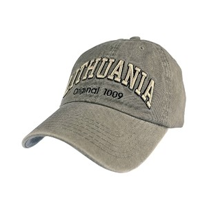 Gray color vintage looks baseball cap Lithuania Original 1009