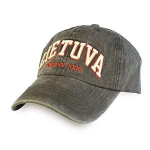 Black vintage looks baseball cap Lithuania Original 1009