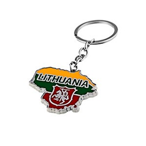 Metal key chain LITHUANIA