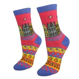 Pink women socks Amsterdam size:(36-42)