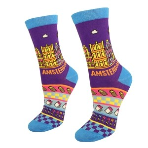 Purple women socks Amsterdam size:(36-42)