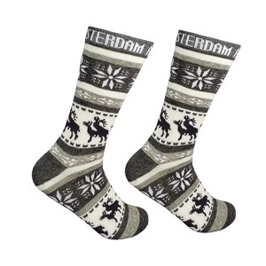 Men gray socks with elks Amsterdam Size:(40-45)