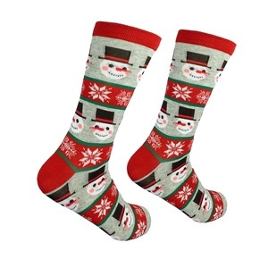 Christmas men's socks with Snowmen, size:(41-46)
