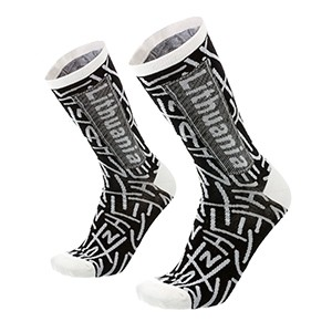 Men's black/white socks Lithuania size:(41-46)