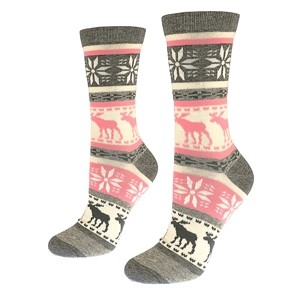 Cotton socks for women with elks and snowflakes size:(36-42)