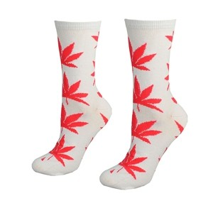 White women socks with weed leaf Size:(36-42)