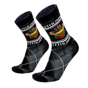 Men's black socks Lithuania size:(40-45)