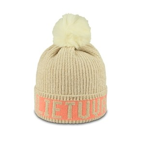 Beige short winter hat Lithuania - Robin Ruth