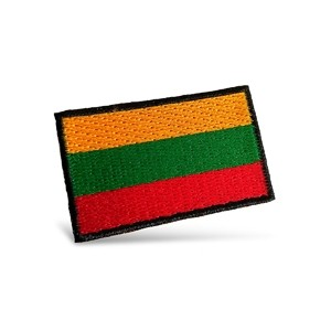 Embroidered patch Lithuanian tricolor