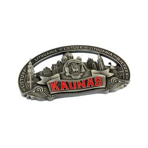 Souvenir metal fridge magnet - Kaunas
