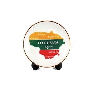 Porcelain plate with magnet Lithuania