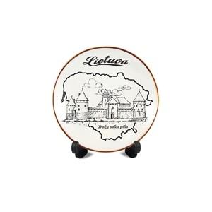 Porcelain plate with magnet Lietuva - Trakai castle