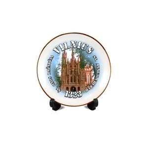 Porcelain plate with magnet Vilnius - Anne's church