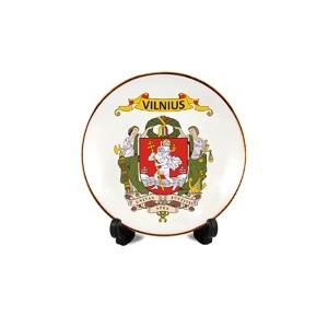 Porcelain plate with magnet Vilnius