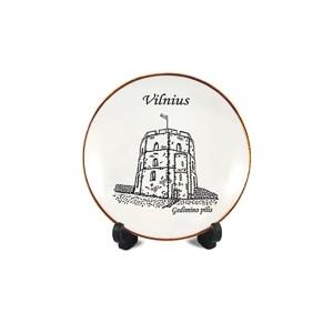 Porcelain plate with magnet Gediminas castle