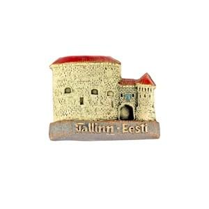 Handmade ceramic fridge magnet Fat Margaretes's Tower Tallinn