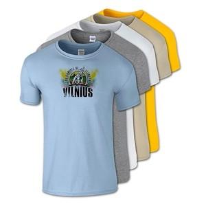 Cotton T-Shirts LITHUANIA Vilnius The Iron Wolf