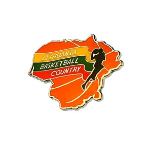 Metal pin Liethuania Basketball Country