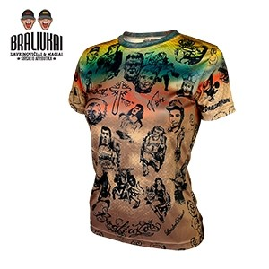 Tattoo woman t-shirts BRALIUKAI