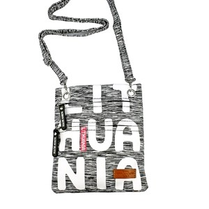 Gray sports style neck bag Lithuania