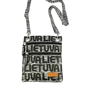 Gray sports style neck pasport bag Lithuania