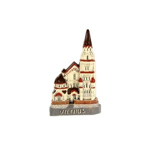 Handmade ceramic magnet St. Nicholas church, Vilnius