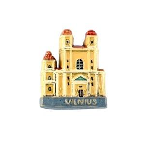 Handmade ceramic magnet The Orthodox church, Vilnius