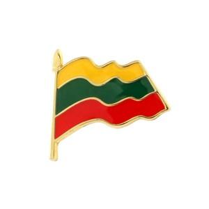Metal pin Lithuanian Flag