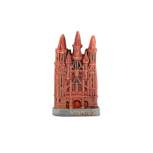 Hand made ceramic magnet The Churches of St. Anne