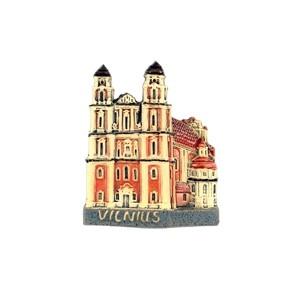 Handmade ceramic magnet Church of St. Catherine, Vilnius