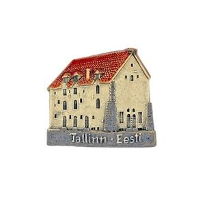 Handmade ceramic fridge magnet Old Town Tallinn